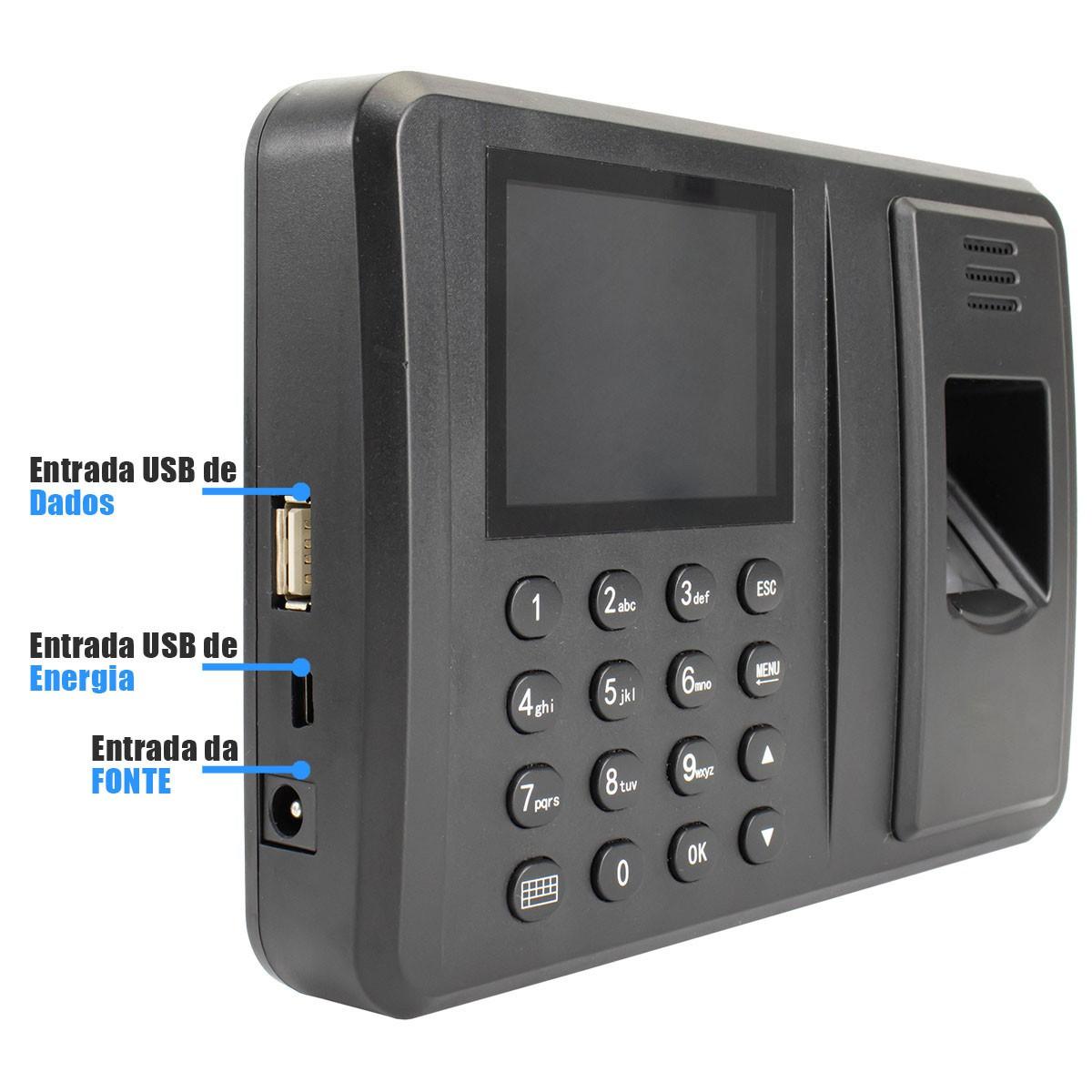 Relógio de Ponto Biométrico Até 600 Digitais SEMi SC9002