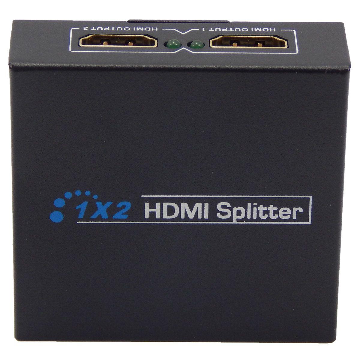 Splitter HDMI 1x2 Divisor 1 Entrada para 2 Saídas v1.4 3D