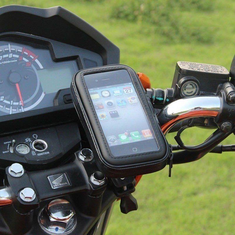 Suporte de Celular Impermeável p/ Bike e Moto Exbom