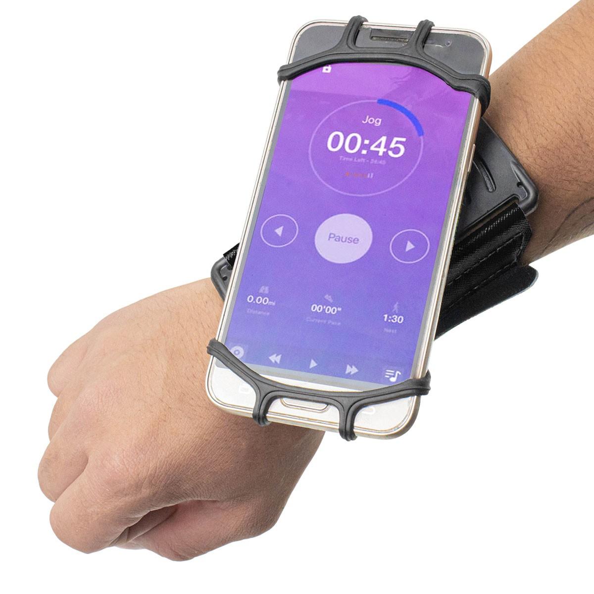 Suporte Porta Celular de Pulso 360 graus Wristband MBfit MB57109