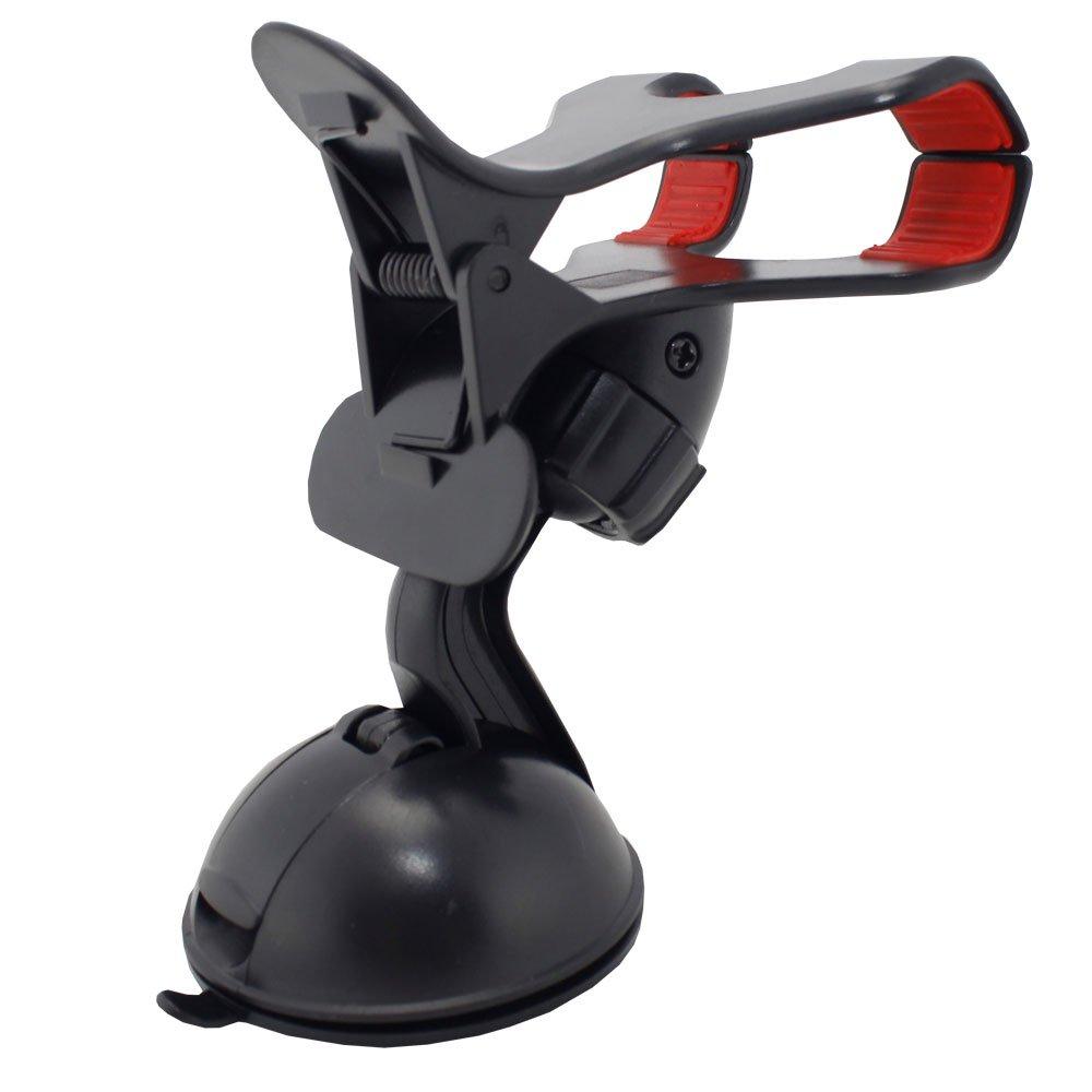 Suporte Universal para Celular e GPS com Ventosa e Fixação com Clipe Duplo Lelong LE-014