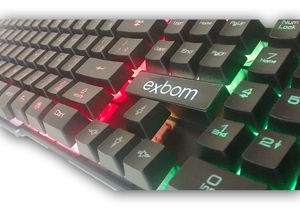 Teclado Gamer Usb Iluminado Exbom BK-152C