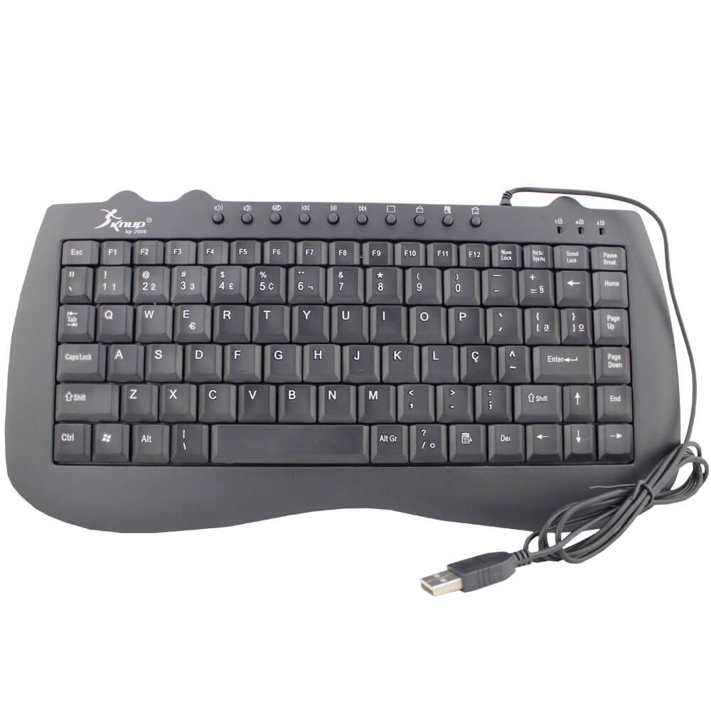 Teclado Mini Multimidia USB Knup KP-2008