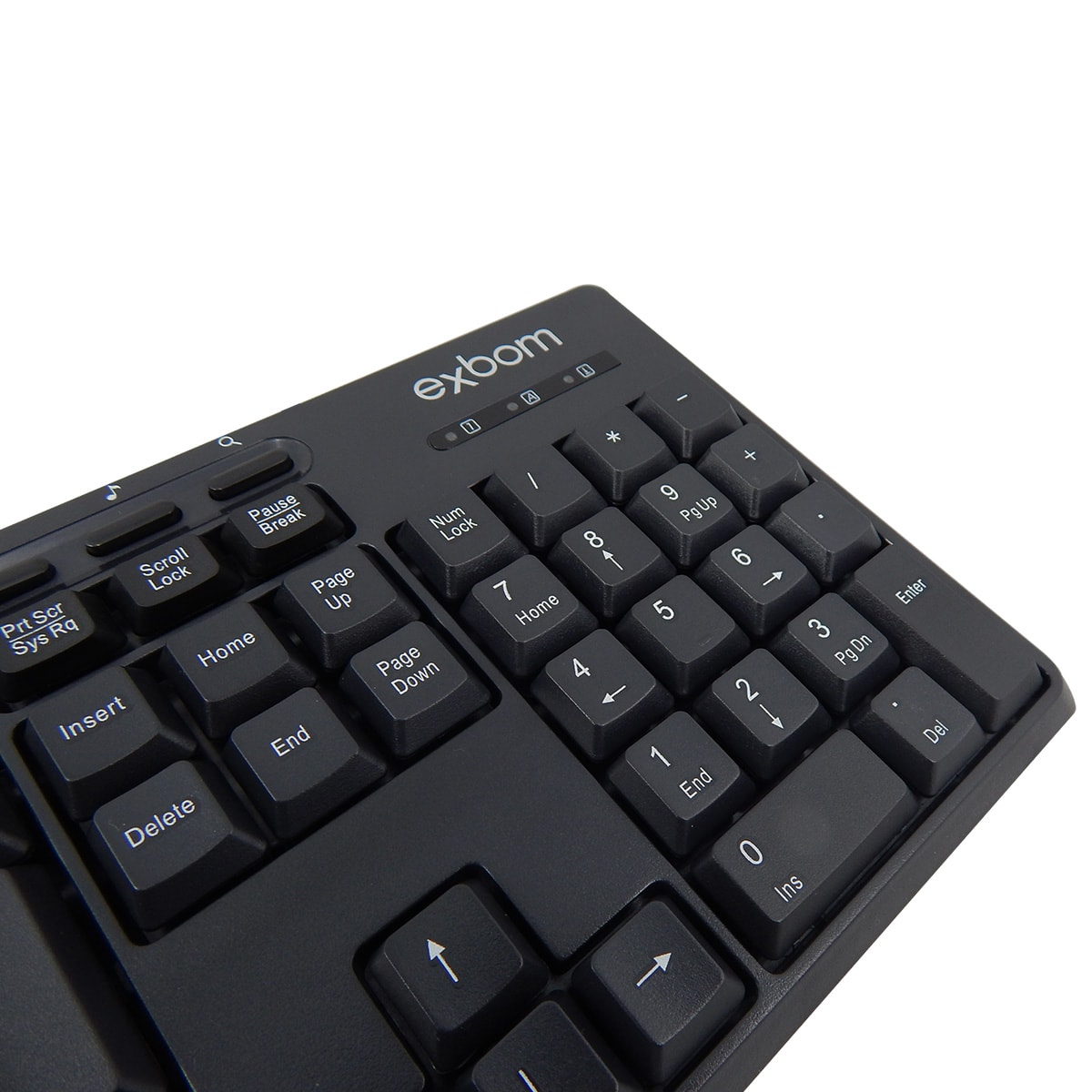 Teclado Multimidia USB Exbom BK-140M
