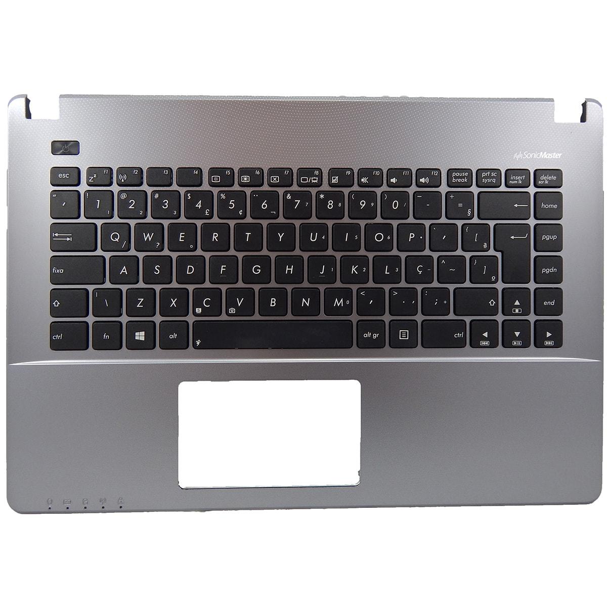 Teclado Notebook Asus X450 X450ca c/ Moldura Prata Sem Touch Pn: AEXJA600110 / SN5531Q