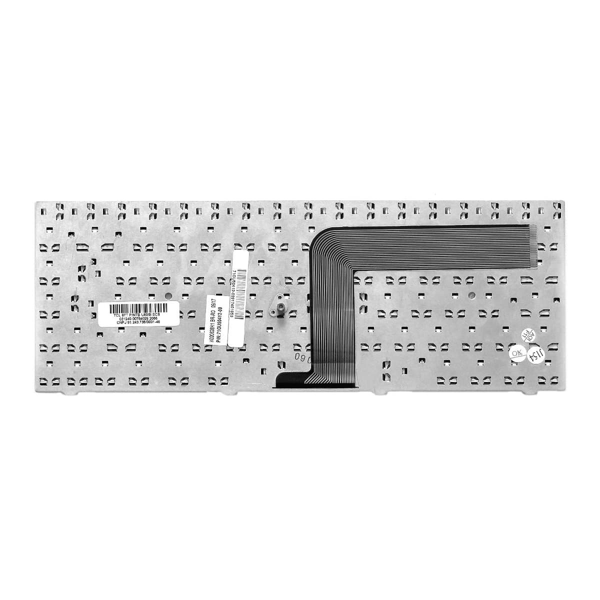 Teclado Notebook CCE Intelbras Pn: K020628K1 / 71GU50412-00