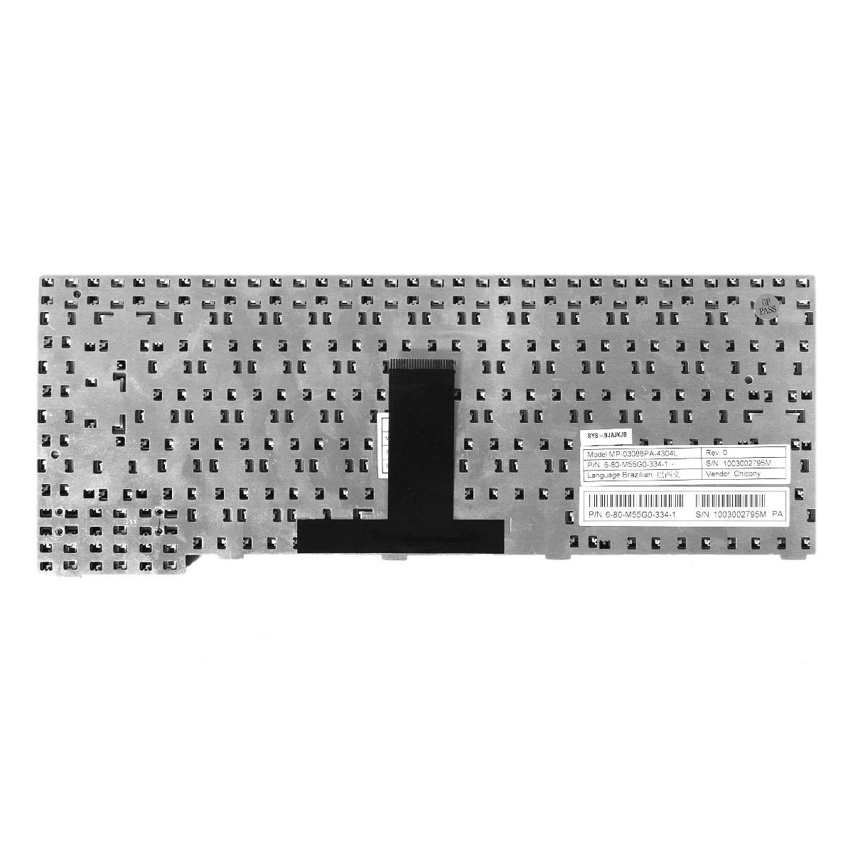 Teclado Notebook Positivo Pn: MP-03088PA-4304L / 6-80-M55G0-334-1