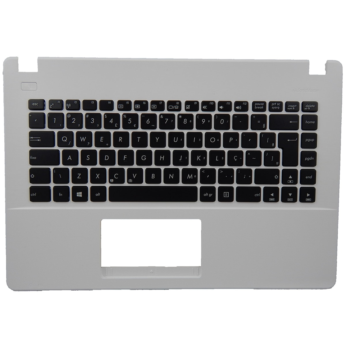 Teclado Ultrabook Asus X451ca/ma Preto c/ Moldura Branca Sem Touch Pn: MP-13K86PA-9203