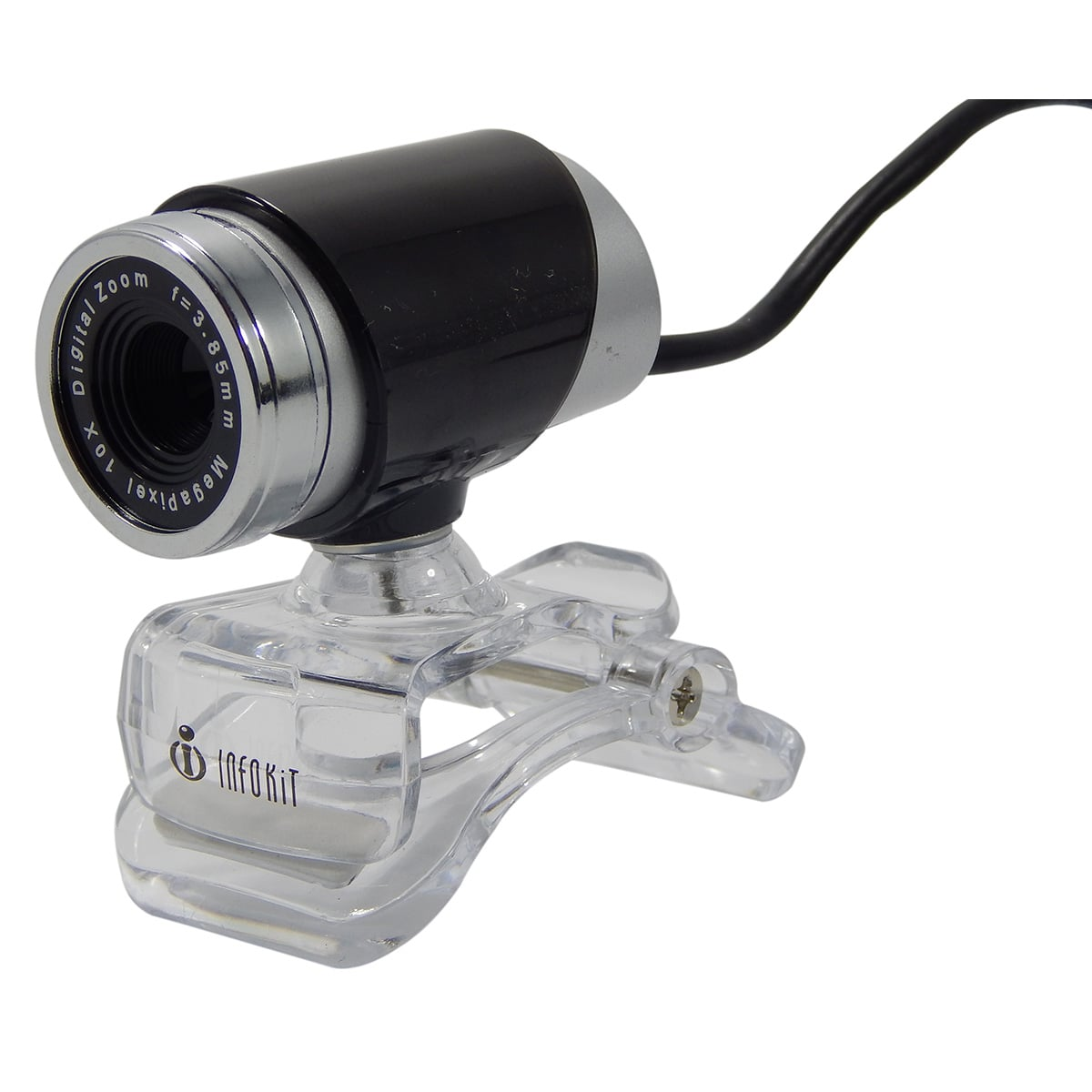 Webcam c/ Mic e Led Infokit N-90MV