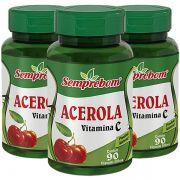 Acerola (Vitamina C) 500mg - Original - 3 Potes