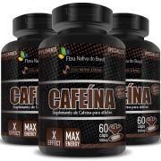 Cafeína em Cápsulas de 500mg - 03 Potes