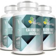 Cálcio de Ostras 900mg - 03 Potes com 60 cápsulas