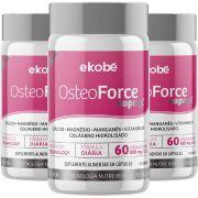 Osteoforce Suprax Original Cálcio Ossos - Cápsulas 820mg - 3 Potes