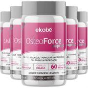 Osteoforce Suprax Original Cálcio Ossos - Cápsulas 820mg - 5 Potes