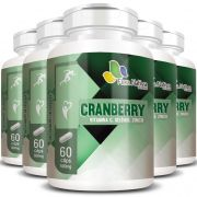 Cranberry + Vitamina C, Selênio e Zinco - 500mg - 5 Potes