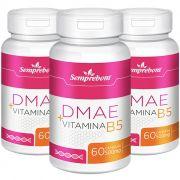 DMAE + Vitamina B5 - cápsulas de 500mg (03 Potes)