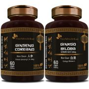 Ginseng Coreano 400mg + Ginkgo Biloba 500mg