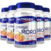 Laranja Moro (Original) + Vitamina C + Picolinato de Cromo -  600mg - 05 Potes (300 cápsulas)