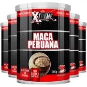 Maca Peruana em Pó, 100% Pura - Xtreme - 05 Potes com 300g (cada)