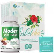 Esbelchá Original Chá 7 Ervas Naturais 60 Sachês + Moder Maxx Diet Emagrecedor 500mg