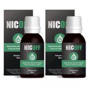 NicOff Gotas - Original - Tratamento para Parar de Fumar - 2 Frascos
