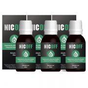 NicOff Gotas - Original - Tratamento para Parar de Fumar - 3 Frascos