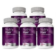 Nutry Hair Vitamina para Cabelo - 05 Potes (Original)