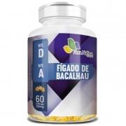 Óleo de Fígado de Bacalhau 100% Puro - 60 cápsulas de 250mg