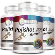 Polishot AZ Homem (Polivitaminico / Multivitaminico)  500mg - 03 Potes