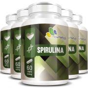 Spirulina 450mg - 100% Pura - 5 Potes - Original