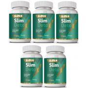 Super Slim Detox - Emagrecedor - Original | 500mg | 05 Potes