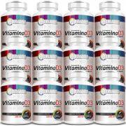 Vitamina D3 - 60 Cápsulas de 500mg - 12 Potes