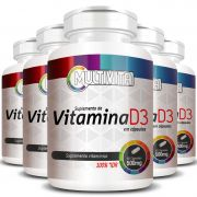 Vitamina D3 - 60 Cápsulas de 500mg - 5 Potes