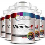 Vitamina E Concentrada - Cápsulas de 250mg - 05 Potes