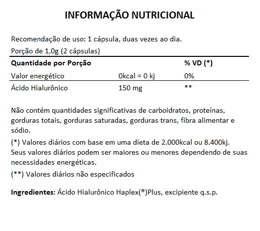 Ácido Hialurônico Haplex®Plus - 500mg - 05 Potes  - Natural Show - Produtos Naturais, Suplementos e Cosméticos