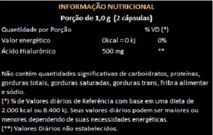 Ácido Hialurônico Haplex®Plus - 60 cápsulas de 500mg  - Natural Show - Produtos Naturais, Suplementos e Cosméticos