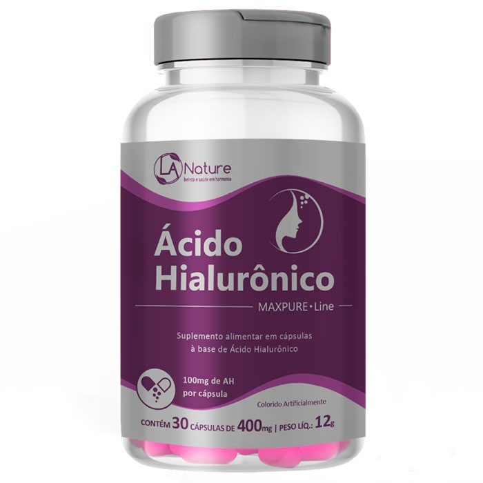 Ácido Hialurônico Original MaxPure Line 100mg - 1 Pote (30 cápsulas)
