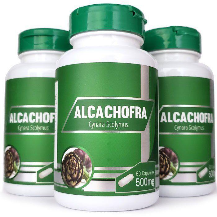 Alcachofra Original - 500mg - 03 Potes  - Natural Show - Produtos Naturais, Suplementos e Cosméticos