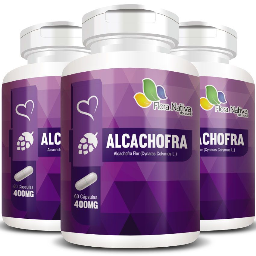 Alcachofra Original - 400mg - 03 Potes  - Natural Show - Produtos Naturais, Suplementos e Cosméticos