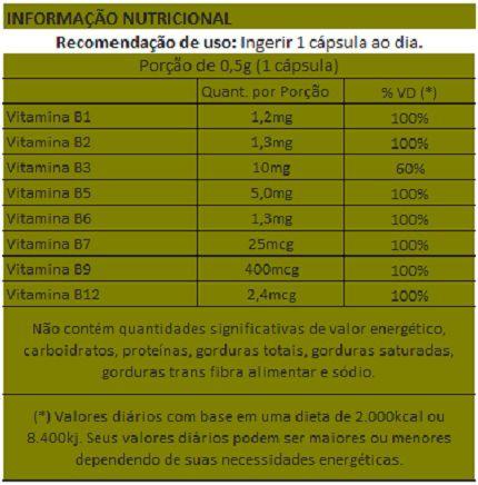 B-Complex (Complexo B)  500mg - 03 Potes  - Natural Show - Produtos Naturais, Suplementos e Cosméticos
