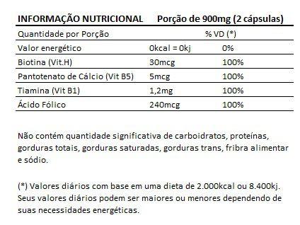 Biotina 450mg - Original - 3 Potes   - Natural Show - Produtos Naturais, Suplementos e Cosméticos