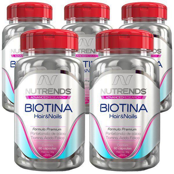 Biotina 450mg - Original - 5 Potes   - Natural Show - Produtos Naturais, Suplementos e Cosméticos