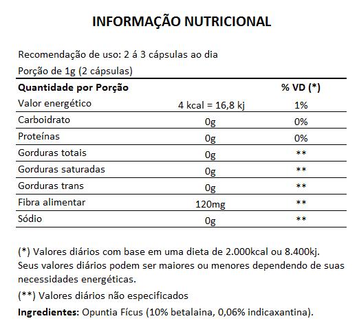 Cactinea Pro 500mg - Original - Opuntia Fícus - 05 Potes  - Natural Show - Produtos Naturais, Suplementos e Cosméticos