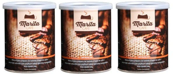 Café Marita 3.0 - Original - Super Combo 3 Latas   - Natural Show - Produtos Naturais, Suplementos e Cosméticos