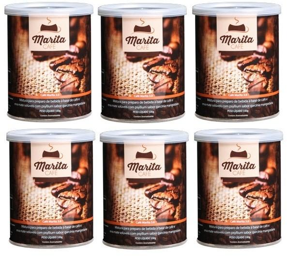 Café Marita 3.0 Original - Super Kit Leve 6 Latas + Brinde