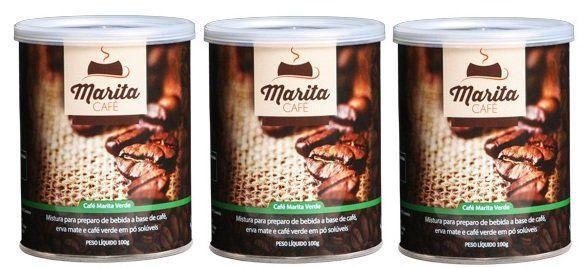 Café Marita Verde - Original - Super Combo - 03 Latas  - Natural Show - Produtos Naturais, Suplementos e Cosméticos
