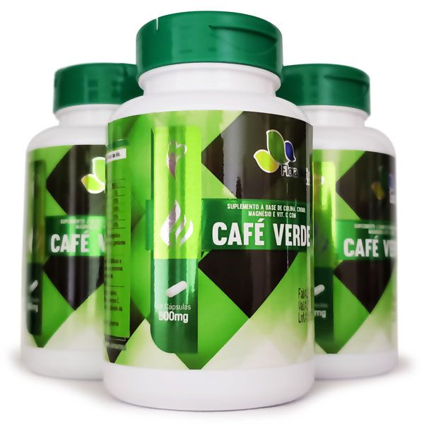 Café Verde | Green Coffee 500 mg - 3 Potes  - Natural Show - Produtos Naturais, Suplementos e Cosméticos