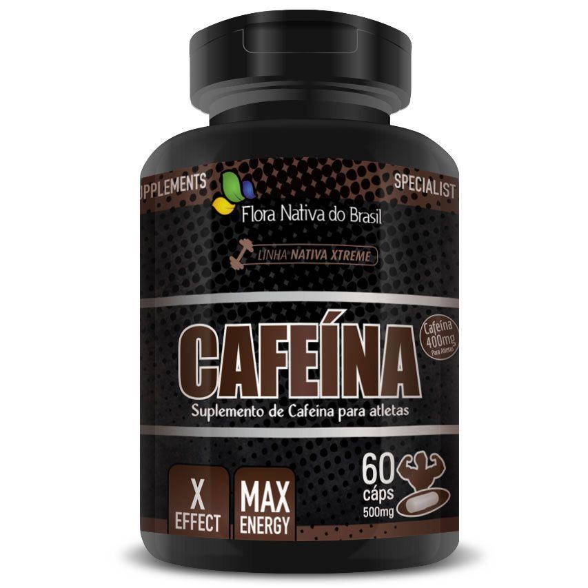 Cafeína em cápsulas de 500mg - 60 cápsulas