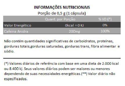 Cafeína - 60 cápsulas de 500mg  - Natural Show - Produtos Naturais, Suplementos e Cosméticos