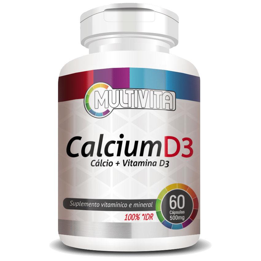 Calcium D3 500mg - Cálcio + Vitamina D3 - 60 cápsulas